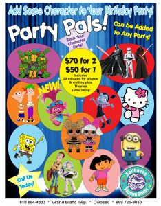 flyer with costume characters